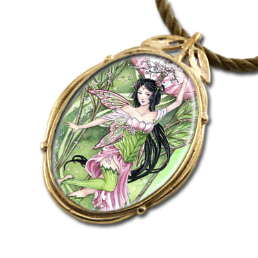 Blossoming Spring Art Pendant